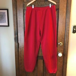 Lee Red Drawstring Waist Sweatpants X-Large